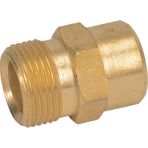 General Pump Deep Cavity Pressure Washer Adapter  M22 x 1/4in. NPT-F, 4000 PSI, Brass,
