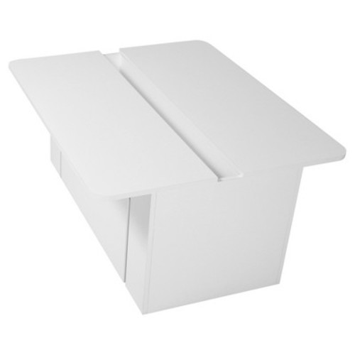South Shore Crea Kids Activity Table with Toy Box on Wheels, White