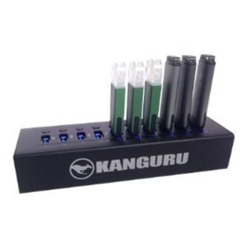 Kanguru - Hub - 10 x SuperSpeed USB 3.0 - desktop