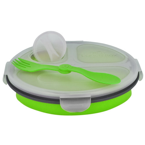 Smart Planet Ec34R3G Green Meal Kit Round Collapsible 34 Oz
