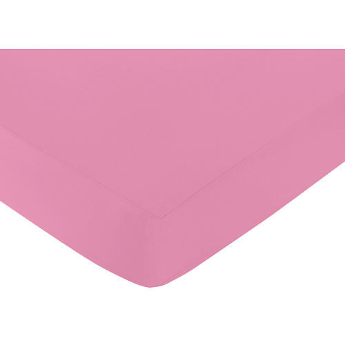 Sweet Jojo Designs Paris Collection Fitted Crib Sheet - Dark Pink