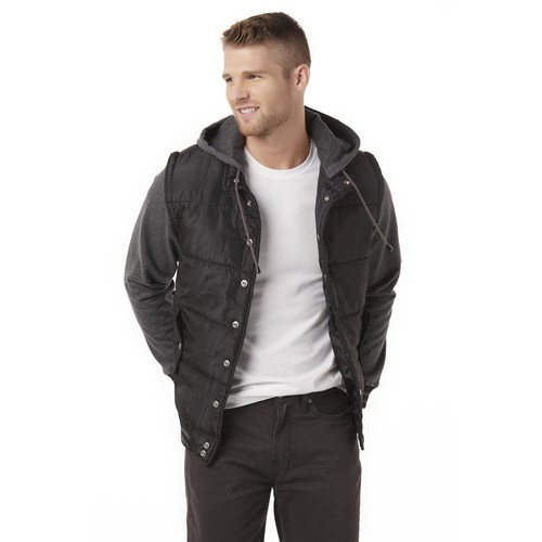 Men's Hooded Bomber Jacket [Fit : Men's]