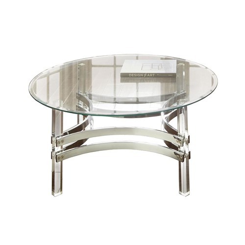 Clayhill Glass and Acrylic Cocktail Table