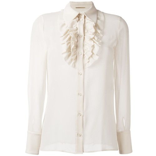 SAINT LAURENT Ruffle Placket Shirt