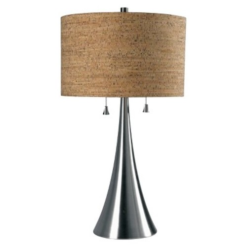 Kenroy Home Brushed Steel Finish Bulletin Table Lamp