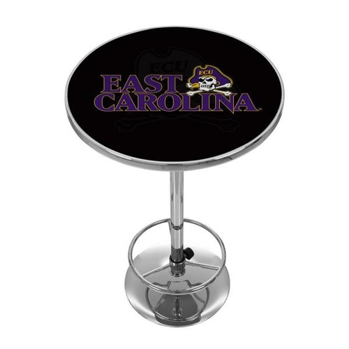 Trademark East Caroline University Chrome Pub/Bar Table
