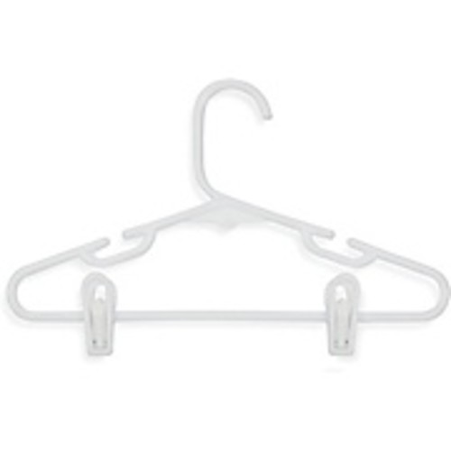 Honey-Can-Do International HNGT01329 Kid's Tubular Hanger with Clips, White