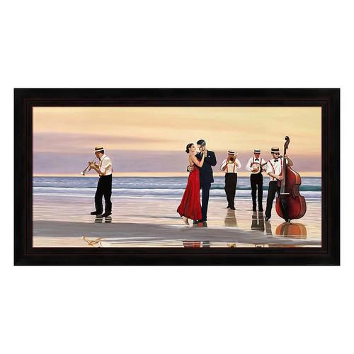 Metaverse Art Romance on the Beach Framed Canvas Wall Art
