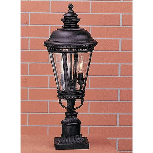 Murray Feiss Castle 3-Light Post in Black - OL1907BK
