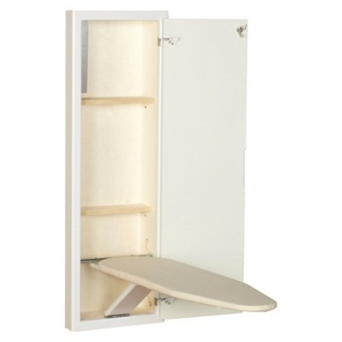 Household Essentials StowAway In-Wall Ironing Board - White