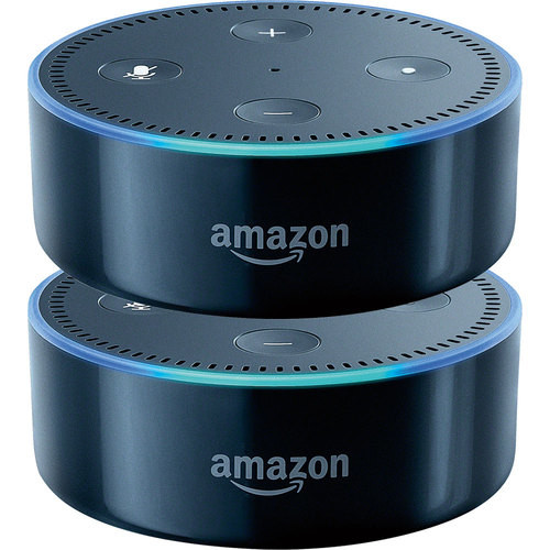 Amazon - Echo Dot (2nd Generation) 2-Pack in Black