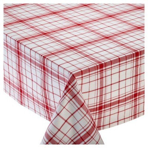 Red Down Home Plaid Tablecloth - Design Imports