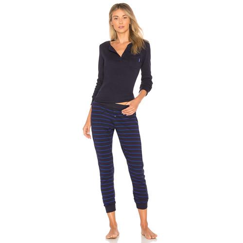 Calvin Klein Underwear Holiday Pajama Set in Minimal Stripe & Fusion