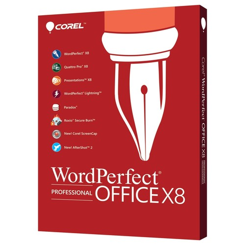 WordPerfect Office X8 Professional Edition - Box pack (upgrade) - 1 user - DVD - Win - English, French
