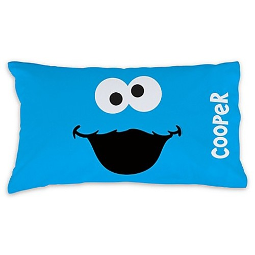 Sesame Street Cookie Monster Pillowcase in Blue