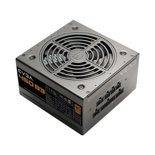 EVGA 450 B3, 80 Plus BRONZE 450W, Fully Modular, EVGA ECO Mode, Compact 150mm Size, Power Supply 220-B3-0450-V1