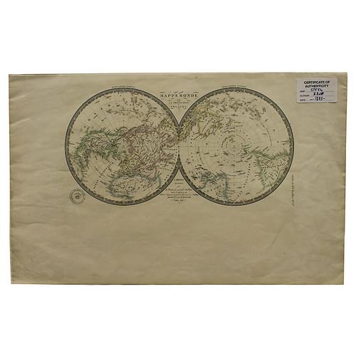 Foreign Affair International Hemispherical World Map
