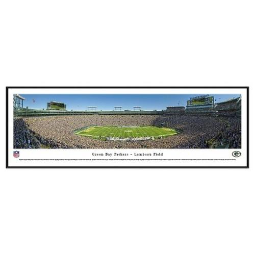 NFL Blakeway Stadium 50 Yard Line View Standard Framed Wall Art - Green Bay Packers