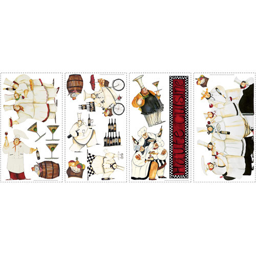 RoomMates RMK1255SCS Chefs Peel & Stick Wall Decals [White, 1]