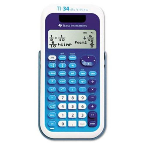 Texas Instrument TI-34 MultiView Scientific Calculator, 16-Digit LCD(AZERTY21850)