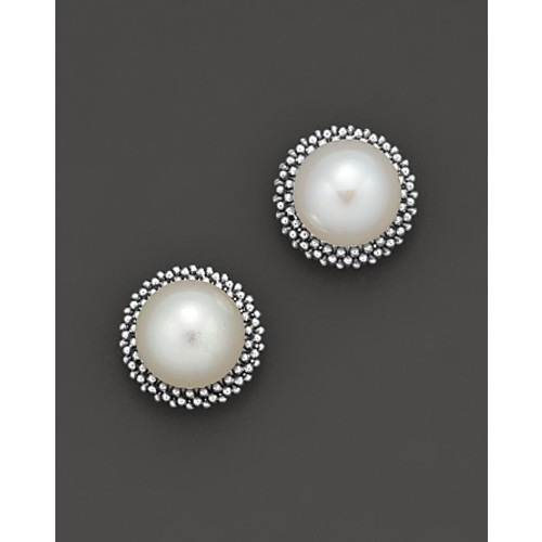 Sterling Silver Luna Pearl 8mm Stud Earrings