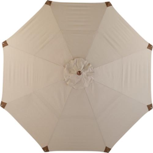 11 Foot Wood Market Umbrella - Beige