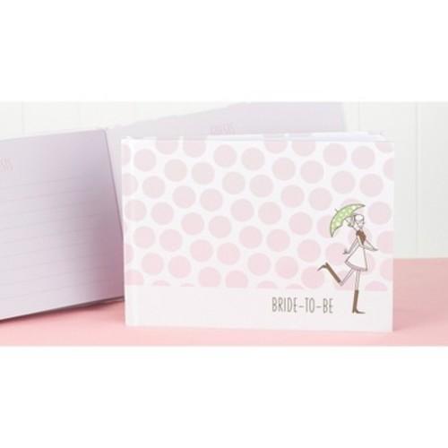 Bridal Shower Polka Dot Guest Book - Pink