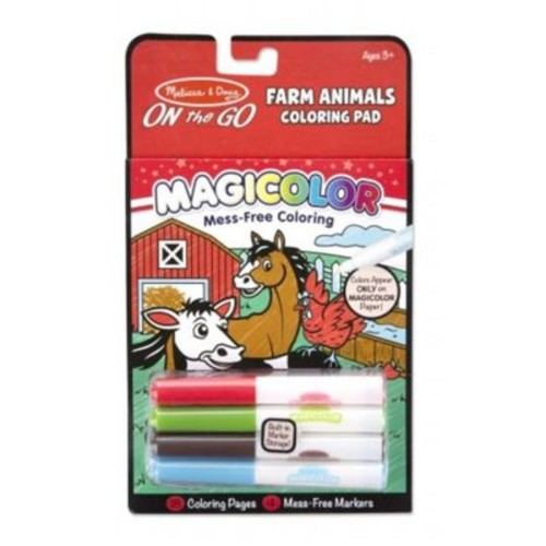 Melissa And Doug Magicolor Coloring Pad - Farm Animals (MLSSAND1525)