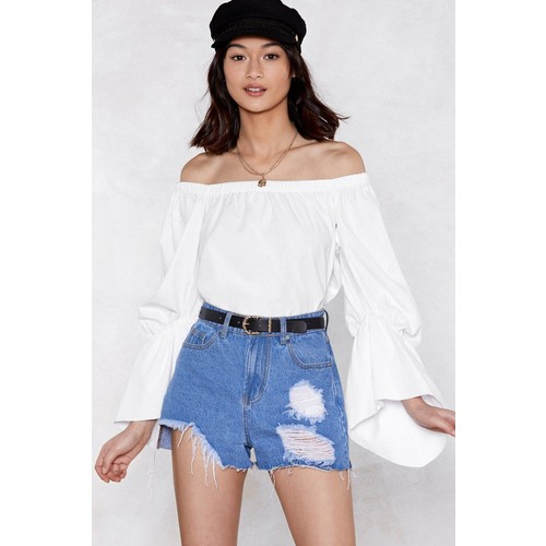 Puff to No Good Off-the-Shoulder Top