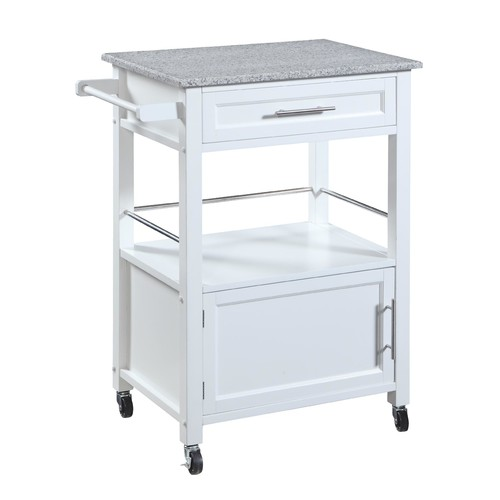 Linon Mitchell Kitchen Cart with Granite Top