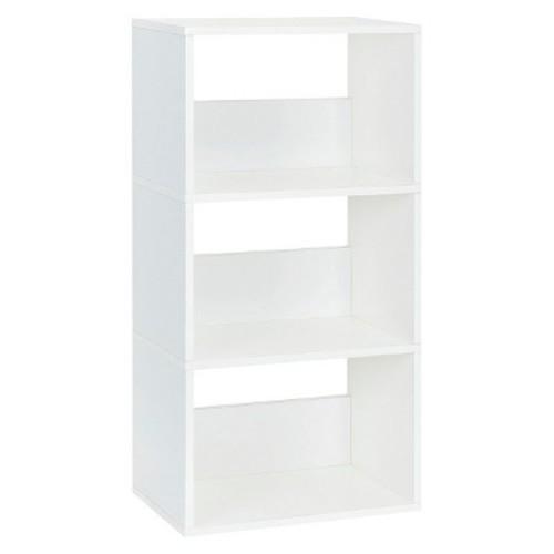 Way Basics 3-Shelf Triplet Bookcase - Eco Shelf, Natural White - Formaldehyde Free - Lifetime Guarantee