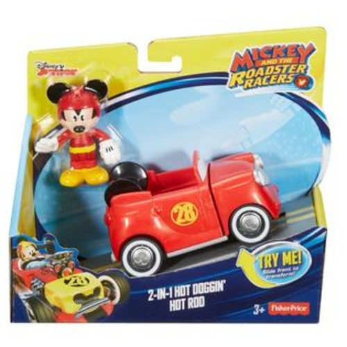 Fisher -Price Disney Mickey and The Roadster Racers 2-in-1 Hot Doggin' Hot Rod