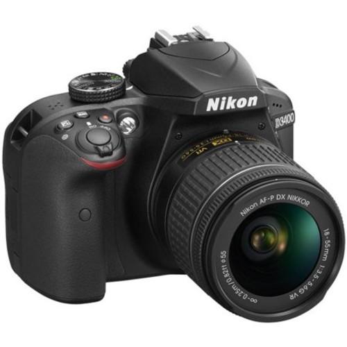 Nikon D3400 24.2 MP DSLR Camera w/ AF-P DX 18-55mm VR Lens Kit + Memory Bundle (Black)