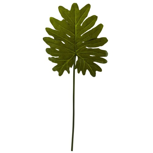 Nearly Natural 31 in. Selloum Philo Single Leaf Stem (Set of 12)