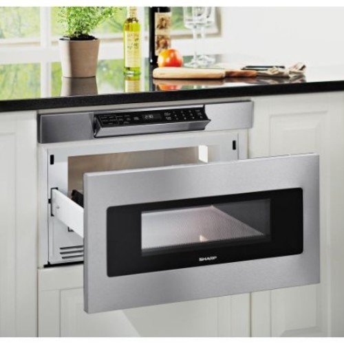 Sharp 1.2 cu. ft. 24 in. Microwave Drawer with Concealed Controls, Built-In Stainless Steel with Sensor Cooking