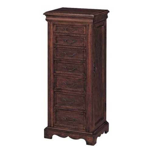 Aged Cherry Finish Jewelry Armoire [Black]