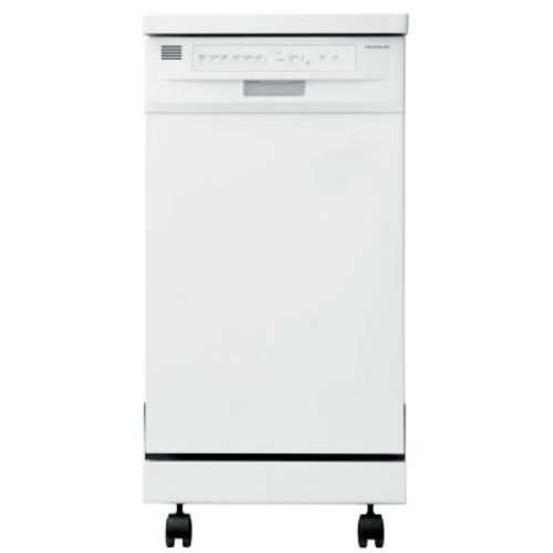 Frigidaire 18 in. Portable Dishwasher in White with Stainless Steel Tub, ENERGY STAR