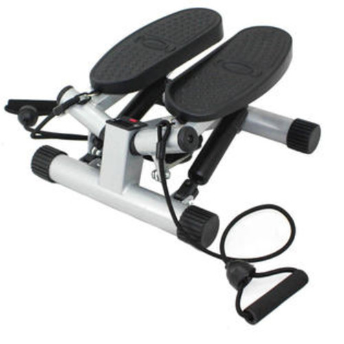 Sunny Health & Fitness Sunny Twisting Compact Stair Stepper with Resistance Bands