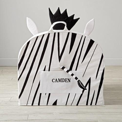 Large Personalized Zebra Nod Chair