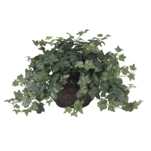 Nearly Natural Puff Ivy w/Vase Silk Plant