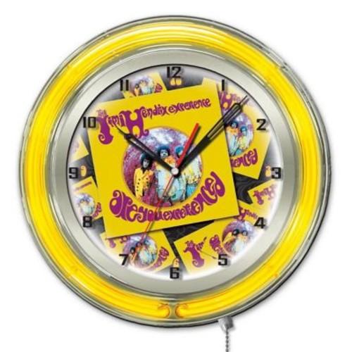 Holland Bar Stool Jimi Hendrix Album Double Neon Ring Logo Wall Clock; 19'' H x 19'' W x 5'' D