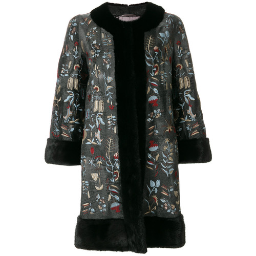 Kaya swakara & mink coat