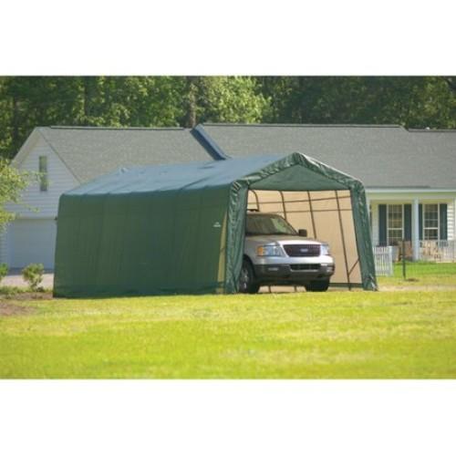 ShelterLogic 90244 Green 12'x28'x10' Peak Style Shelter