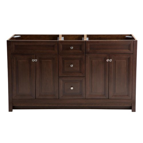 Home Decorators Collection Brinkhill 60 in. W x 21.6 in. D x 34 in. H Vanity Cabinet in Cognac