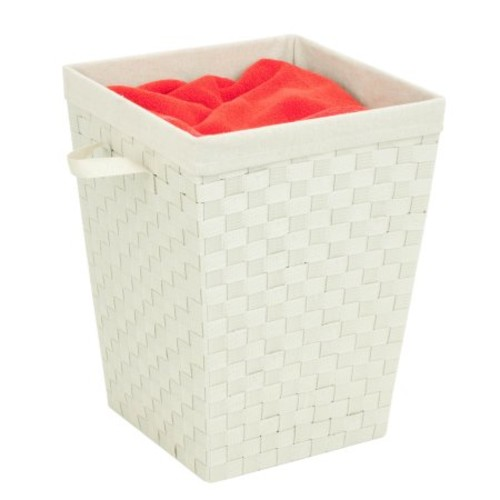 Honey Can Do Woven Strap Hamper with Liner and Steel Frame, Crme