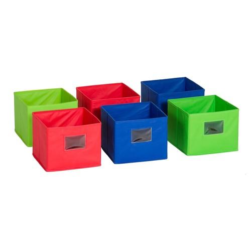 Guidecraft Fabric Bins, Set of 6
