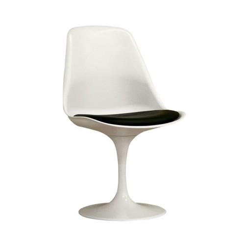Baxton Studio Vinyl Retro Dining Chair - White