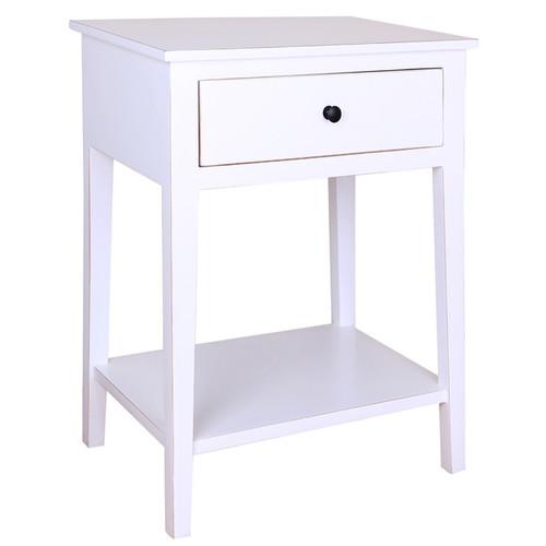 Porthos Home Coffee, Console, Sofa & End Tables Porthos Home Shelby Single Drawer Side Table [option : Black - Black Finish]
