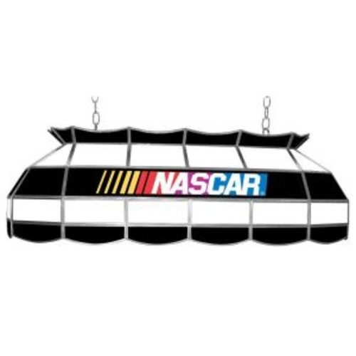 Trademark Global NASCAR 3-Light Stained Glass Hanging Tiffany Lamp