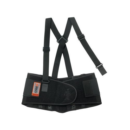 Ergodyne ProFlex 2000SF High-Performance Back Support, Medium, Black [Medium]